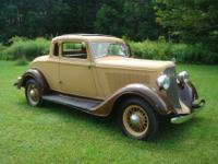 1934 Plymouth PFXX rumble seat coupe. Only 1,746 cars