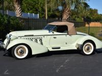 The Auburn Speedster is made to be seen.Power steering,