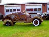 1935 auburn convertible project, rough condition with