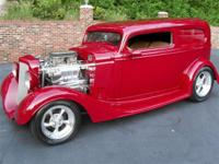 Outlaw body and chassis, built by Marks hot rod shop,