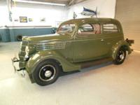 1935 Ford Slant back 2-door sedan BARN FIND. Very rare