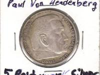 1935 GERMANY 5 Reichsmark SILVER COIN condition is AU