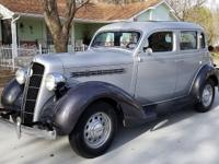 1935 Plymouth PJ Four Door Sedan Deluxe Original GEM.