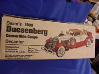 1935 DUESENBERG CONVERTIBLE COUPE JIM BEAM DECANTER
