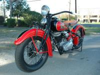 This 1935 Indian Chief has just under went a 2 1/2 year