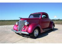 1936 Ford 3 window coupe. Frame off restoration with