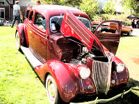 1936 Ford Five Window Coupe with Motor City Ford Flat