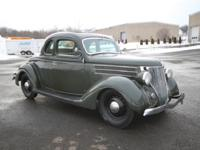 1936 Ford 5W Coupe Hot Rod w/ Rumble Seat - This is a
