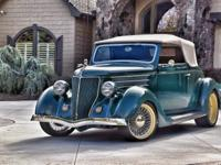 1936 Ford Club Cabriolet in Cloud Mist Grey (Green)