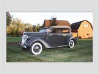 This 1936 ford is a eye catching example of American