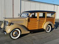 1936 Ford Woodie Wagon. This wagon has some very rare
