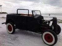 1936 voxhall chevy rat rod 2 dr tub. tittled and