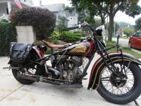 1936 Indian Chief 74 Maroon. I added a oil filter and