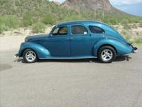 1936 Lincoln Zephyr street rod, 327 Chevy, turbo 350,
