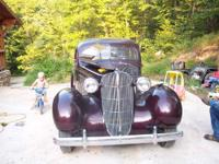 1936 all original oldsmobile touring sedan runs and