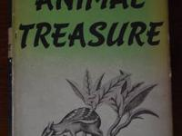 ANIMAL TREASURE, 1937 first edition book with 35
