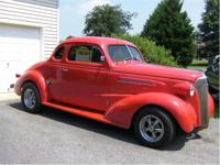 1937 Chevy Coupe. All steel body with solid floores.