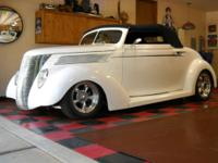 1937 RUMBLE SEAT STEEL CABRIOLET UP FOR SALE IS A