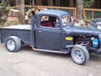 '37 Ford Rat Truck, powertrain is a Chevy 350 backed by