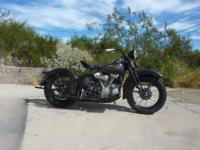 ++++++Very nice 1937 knucklehead. A lot of oem parts