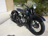 1937 knucklehead. A lot of oem parts like frame, forks,