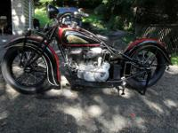 1937 INDIAN CHIEF, MATCHING FRAME AND MOTOR. RESTORED