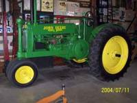 1937 John Deere model A tractor for sale. Excellent