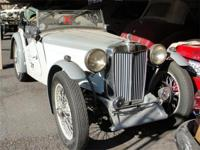 1937 MG TA Roadster. A very desirable and rare