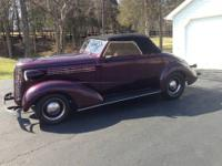 1938 Chevy Convertible Coupe. This GARAGE KEPT car has