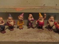 This is an Original Set of 6 inch, hard rubber 7 Dwarfs