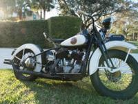 1938 Harley-Davidson CHP Police Motorcycle Clear. This