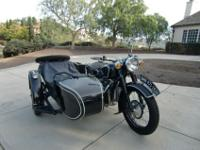 Excellent bike and sidecar made as a specific replica