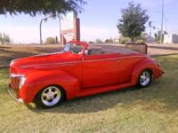 1939 FORD CONVERTIBLE ALL STEEL Chopped 3 inches 350