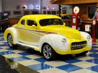 1939 Ford Coupe custom. Painted in 6 tone PPG white,