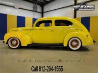 1939 Ford Deluxe two door sedan street rod. Powered by