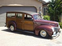 1939 Ford Wonderful Woody Wagon...$129,500 Classic Car