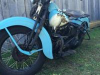 1939 EL KNUCKLEHEAD , THIS IS NOT AN AMCA BIKE IT HAS