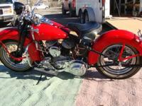 Rare 1939 Harley Davidson WL Motorcycle - 3-Speed -