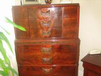 GREAT SHAPE ANTIQUE CHINESE CHIP N DALE 3 PC BEDROOM