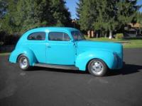 This is a very nice rust free 40 sedan It has a 302