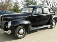 This 1940 Ford Deluxe is a rare find because it has