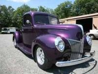 1940 Ford O1C Half Ton 1940 Ford Pickup with polished