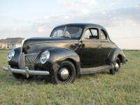 This auction is for a farm fresh 1940 Ford Standard