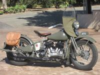 One of only 300 74ci. Harley Davidson UA model produced