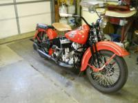 1940 Harley-Davidson ULH Big Twin. Bike was completely