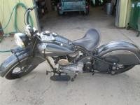 1940 Indian Chief with a 1947 engine. Export model w/