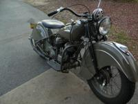 1940 Indian Sport Scout. Detailed below are the