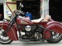 "Indian described their Four-Cylinder model as ""The"