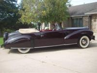 1940 LINCOLN CONTINENTAL CONVERTIBLE, 3-SPEED
