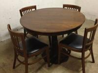 Super great looking antique table and chairs. All